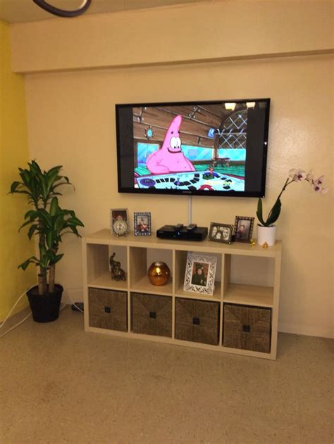 ikea kallax made as a tv stand ikea kallax pinterest tvs tv stands and a tv