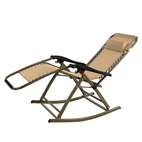 partysaving infinity  gravity rocking chair outdoor lounge patio folding reclining chair