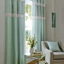 Duckegg Blue Curtains Catherine Lansfield Ivory Duck Egg Blue Jacquard Fully