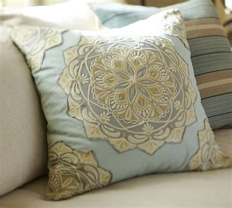 Pillow Covers Pottery Barn by Cressida Medallion Embroidered Pillow Cover Pottery Barn