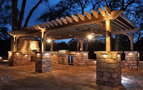 outdoor kitchen with pergola project stunning outdoor kitchen pergola volt lighting