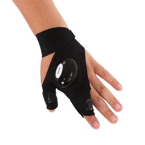 sarung tangan lu led tangan kanan black