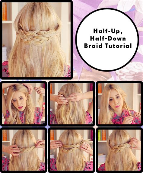 how do you do half up half down hairstyles half up half down braid hair tutorial hair extensions