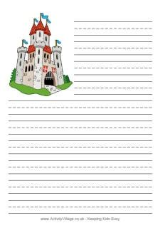tale writing paper template free printable themed writing papers