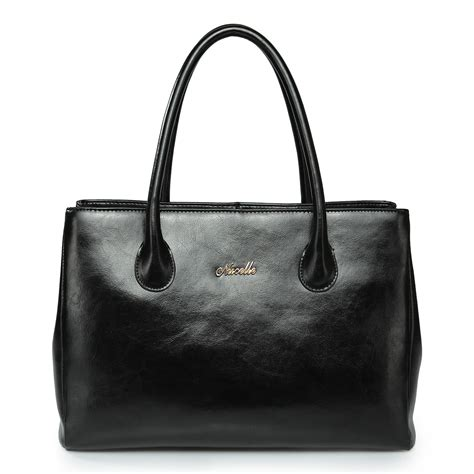 Cowhide Leather Handbags elegance cowhide leather handbag black