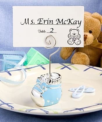 Baby Shower Place Card Holders by Baby Bootie Place Card Holder
