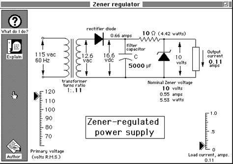 use of diode in power supply simple zener regulated power supply