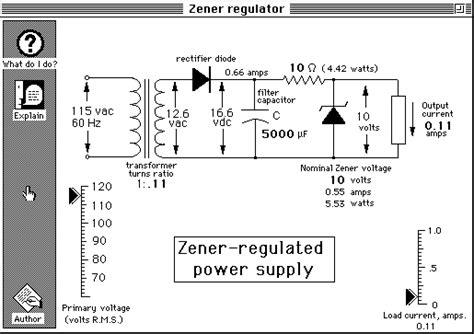 zener diode power supply circuit simple zener regulated power supply