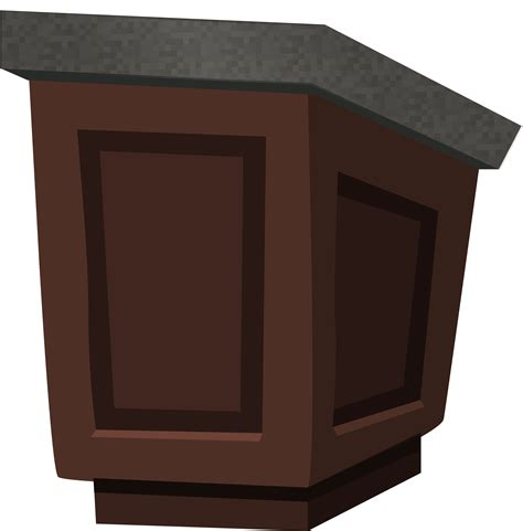 Podium Granit clipart podium wood with granite top from glitch