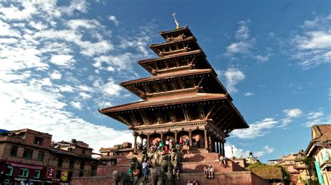 time lapse  nyatapola temple  bhaktapur nepal youtube
