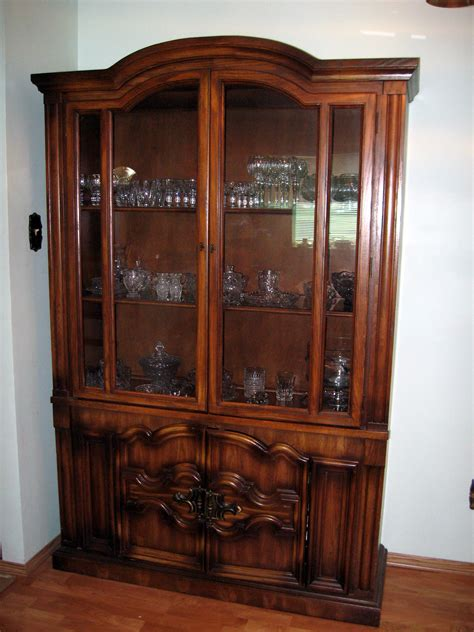 Wooden Cabinet With Glass Doors 300 Set Solid Oak Wood China Cabinet And Side Serving Hutch On Wheels Estate Sale In