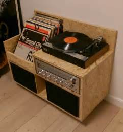 record player storage my homemade osb record player storage furniture records