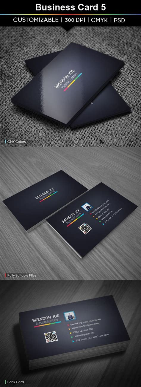 glossy business card template clean glossy business card template with qr code for