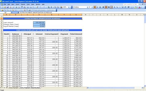 Auto Loan Amortization Schedule Excel Template Qualads Car Payment Calculator Excel Template