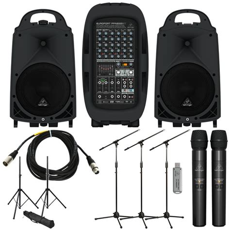Behringer Wireless Microphones Systems Ultralink Ulm202usb Set behringer ppa2000bt package with handheld wireless sweetwater