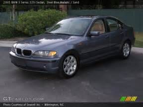 steel blue metallic 2005 bmw 3 series 325i sedan sand