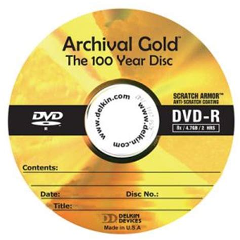 delkin 10 pack archival gold dvd r with scratch armor