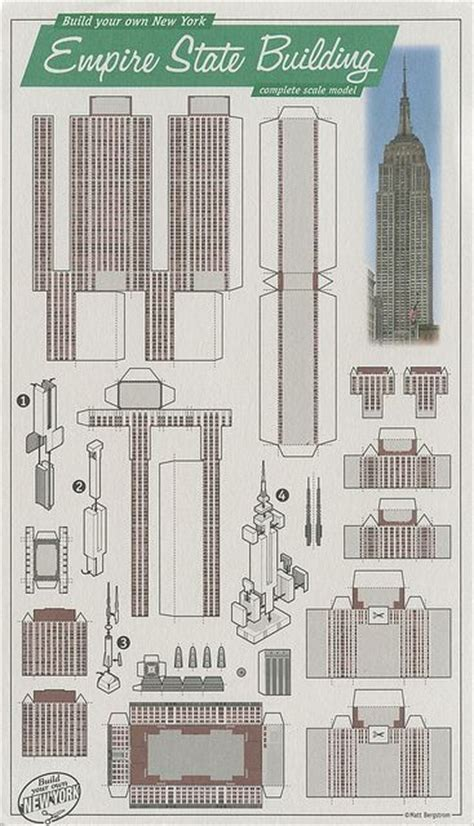 all sizes empire state building new york cut out