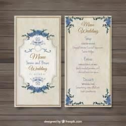 wedding menu sles templates vieille menu de mariage d 233 mod 233 t 233 l 233 charger des vecteurs