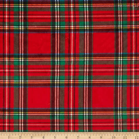 tartain plaid minky classic plaid red discount designer fabric