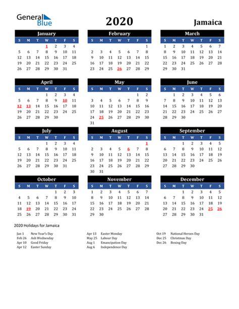 calendar jamaica  holidays