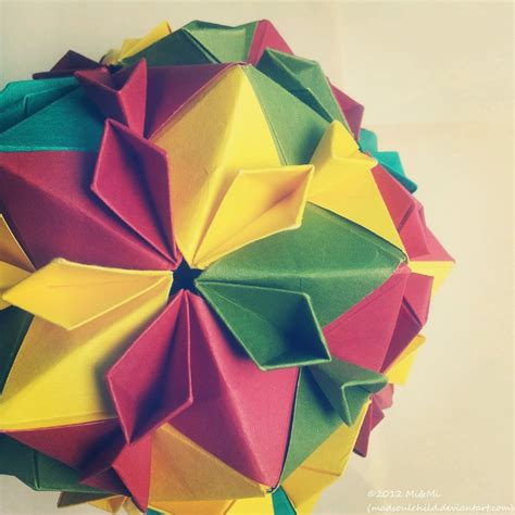 Modular Origami Folding - modular origami cherry blossom 2 by madsoulchild on