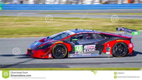 Lamborghini Race With Lamborghini Gtd Race Car At Daytona Speedway Florida