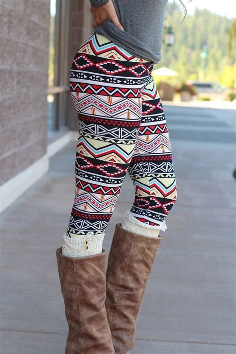 aztec pattern leggings outfit nanamacs boutique chevron pyramids aztec print leggings
