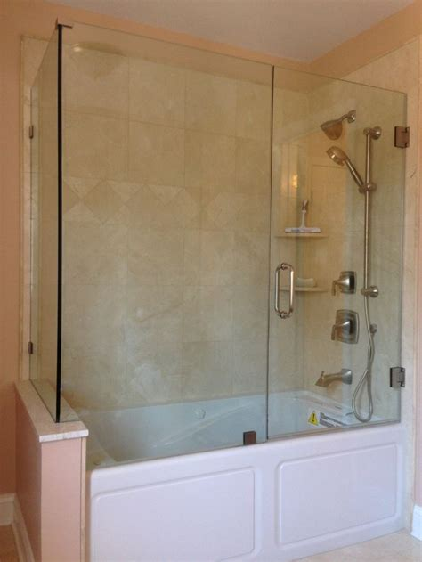 frameless glass bathtub doors frameless bathtub enclosure glass tub enclosures pinterest