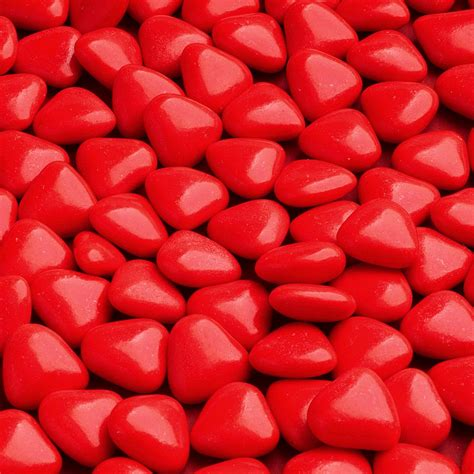 red mini chocolate heart dragees weddings at favour this
