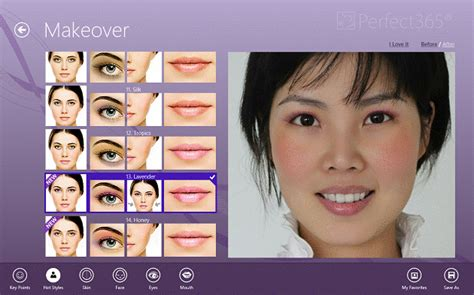 makeover photo app helpful virtual makeover app perfect365 for windows 8