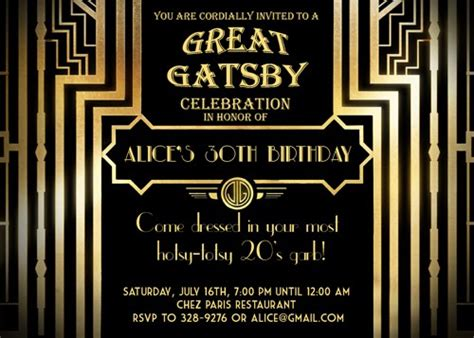 gatsby invitations templates invitations great gatsby invitations ideas