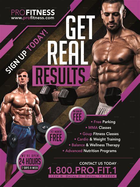 fitness flyer fitness flyer poster template v1 by megaboiza