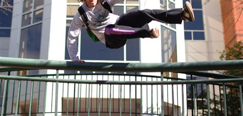 fitness parkour and free running style workouts