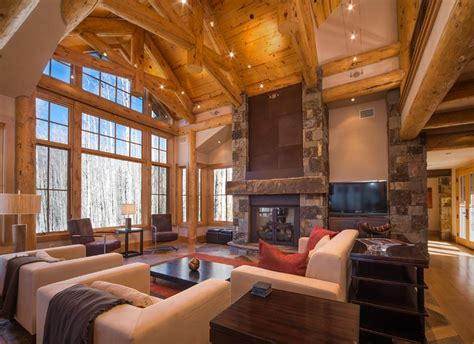 great room and fireplace 117 and timber ski home