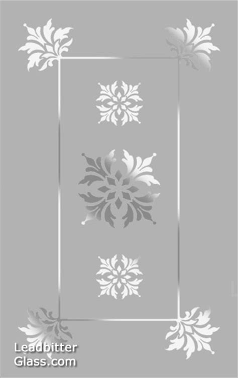 Frosted Glass Kitchen Cabinets traditional floral etched glass design suffolk