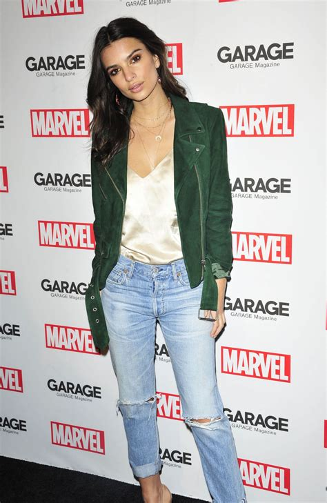 Garage Clothing Nyc Emily Ratajkowski At Marvel And Garage Magazine New York