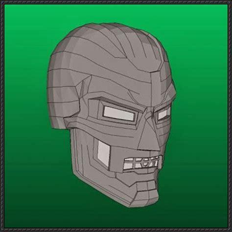 paper helmet template marvel comics doctor doom helmet papercraft free