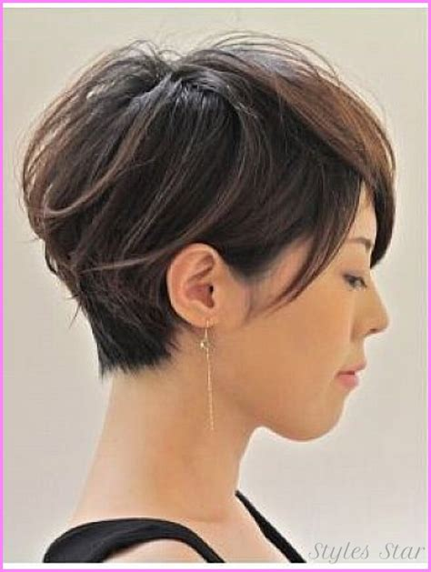 i like this cut with short bangs and longer lawyers right short bob pixie haircuts stylesstar com