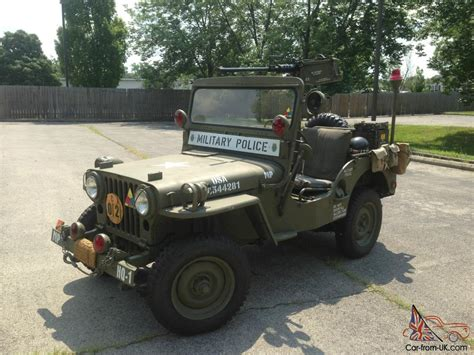 1952 Jeep Willys 1952 Jeep Willys Cj 3 Restored