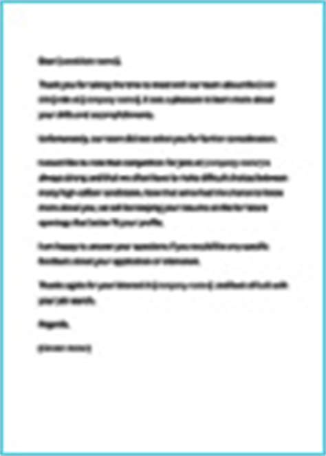 Rejection Letter Overqualified Sle Rejection Letter Overqualified Cover Letter Templates