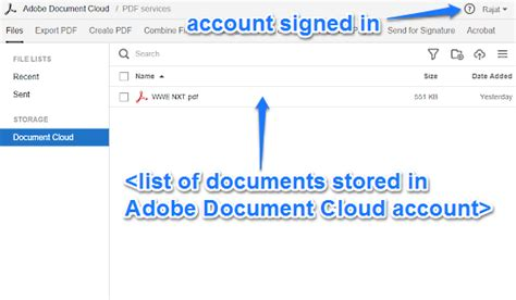 Adobe Document Cloud Sign In