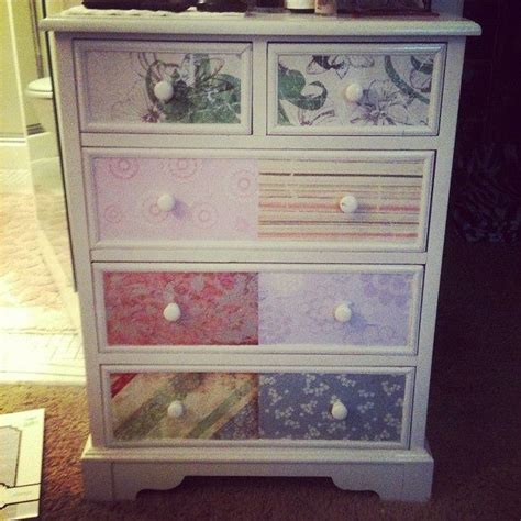 Decoupage Dressers - decoupage dresser things to try