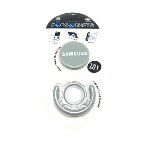 Phone Holder Popsockets Logo Samsung Popclip Car Mount Isi 3 Pcs jual g smart popsocket logo samsung phone holder with popclip car mount grey harga
