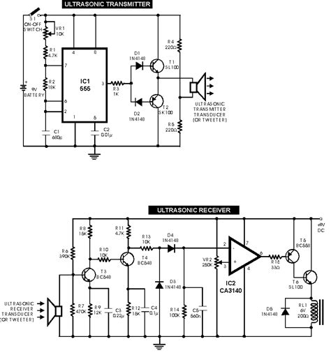 d718 transistor circuit diagram ultrasonic switch electronics circuits hobby