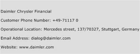 Chrysler Financial Address by Daimler Chrysler Financial Customer Service Phone Number