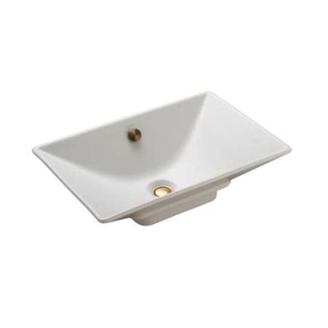 home depot kohler bathroom sink kohler reve vessel sink in honed white k 4819 hw1 the