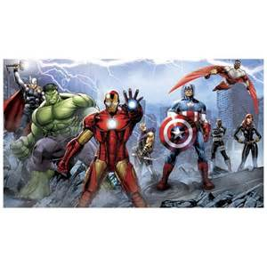 Full Wall Mural avengers assemble full wall mural roommates avengers wall murals