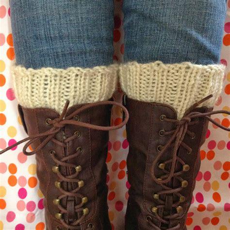 knit cuffs knit nat simple knitted boot cuffs