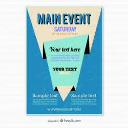 poster templat blue origami poster template vector free